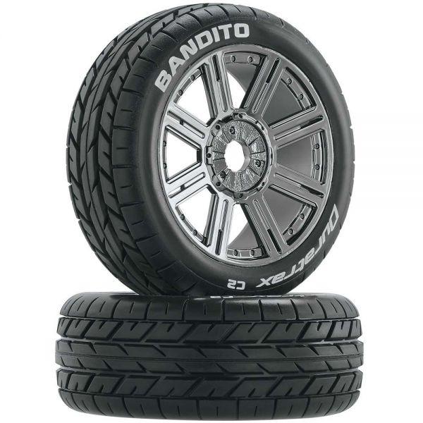 1:8 Buggy Tire Mounted Bandito Spoke black/chrome (2)