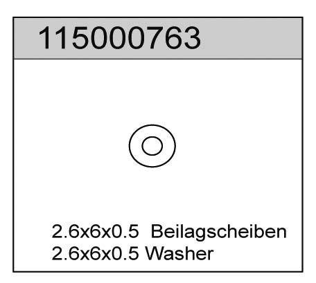 Beilagscheiben 0.5 (6) X8 - T08667