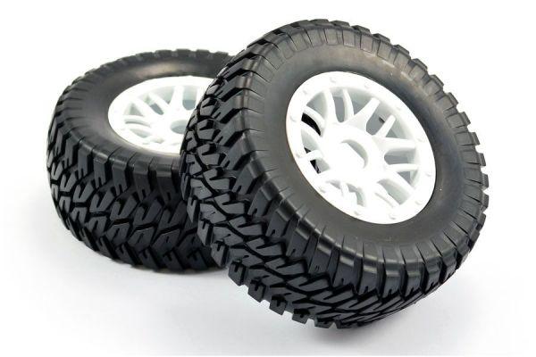 1:10 Short Course Mounted Tires Canyon white (2)