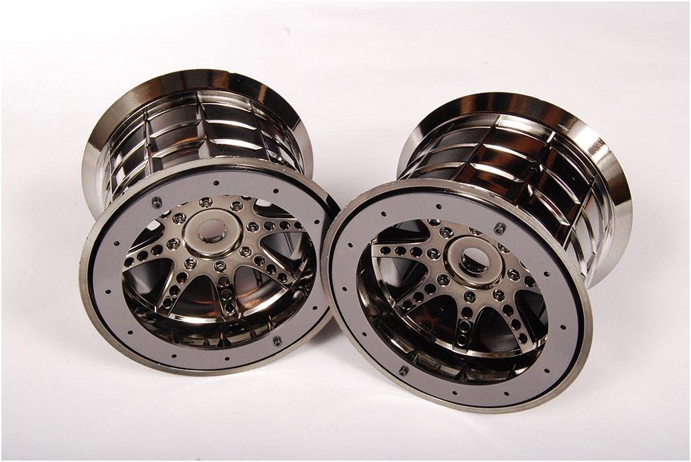 Axial 8 Spoke Beadlock Wheels (Black Chrome)