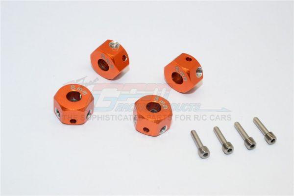 Alu.-Radmitnehmer 12x8mm orange (4)