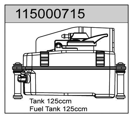 Tank 125ccm X8 - T08615