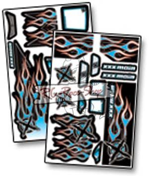 Dekorbogen X-Wrapz IGNITE Truggy blau