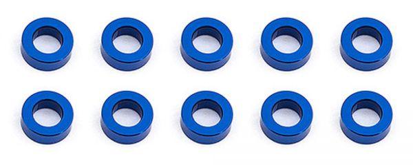 Ballstud Washers, 5.5x2.0 mm, blue aluminum