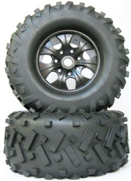 BLOCK 1:8 Monster mounted Tires 85x170mm black (2)
